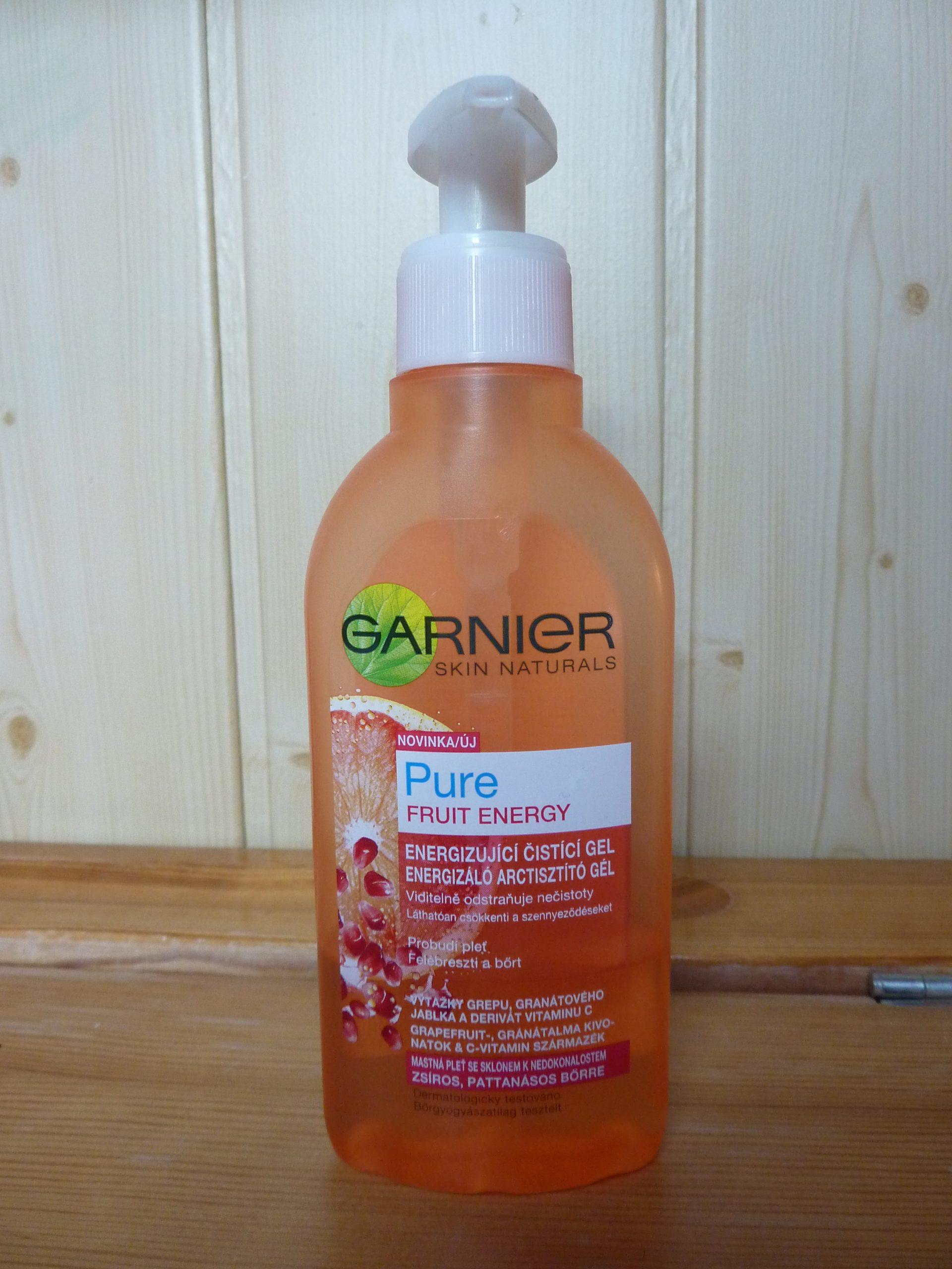 Čistící energizující gel Garnier Skin Naturals Pure Fruit Energy