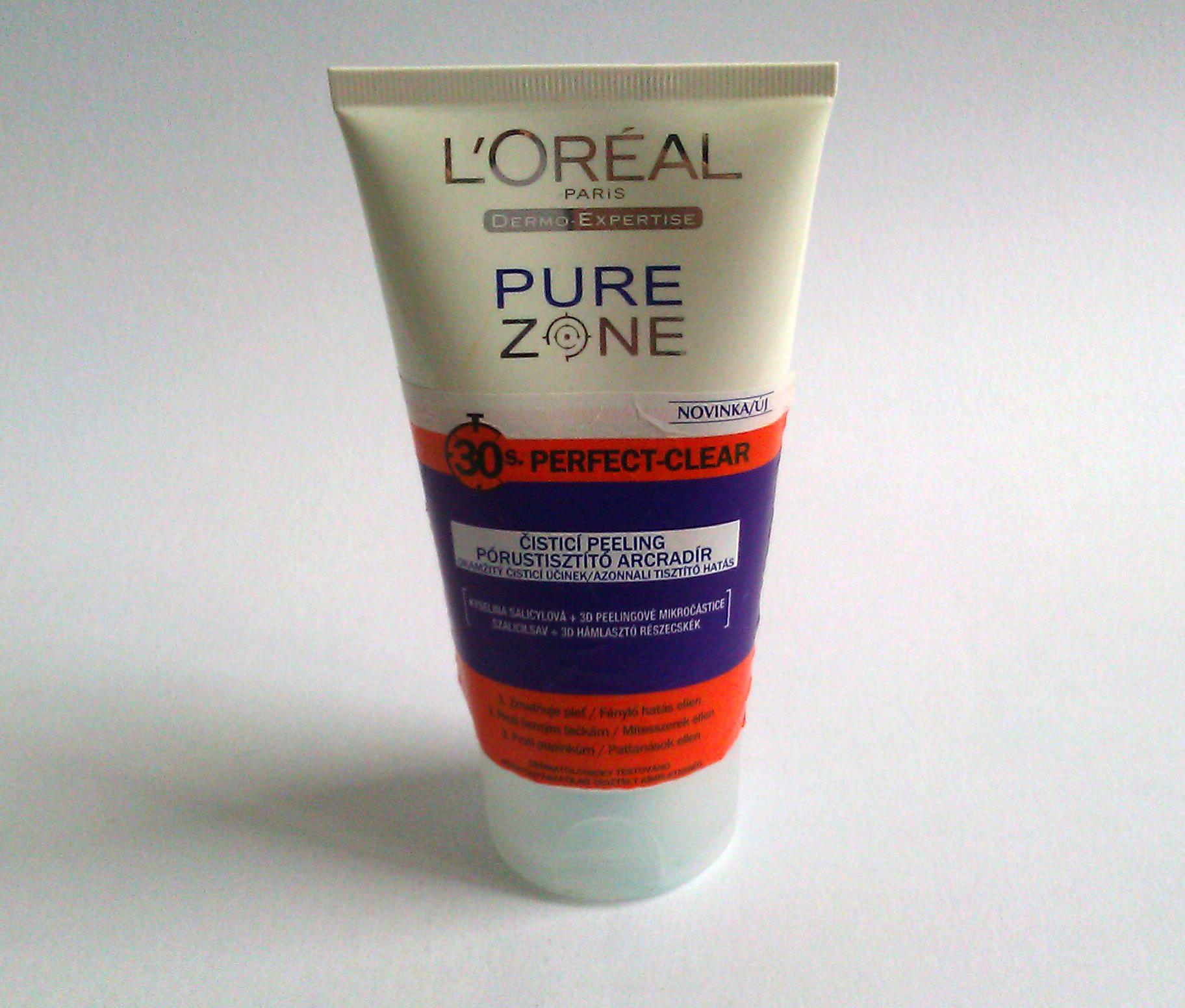 Čisticí peeling Loreal Paris Perfect-Clear Pure Zone – recenze