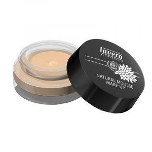 Lavera Přírodní pěnový make-up (15 g) - slonová kost + Dózička: sklo vršek: plast