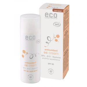 Eco Cosmetics CC krém SPF 30 BIO - dark (50 ml) - komplexní péče pro vaši pleť + 50 ml