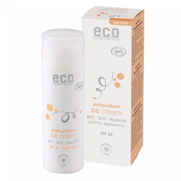 Eco Cosmetics CC krém SPF 30 BIO - light (50 ml) - komplexní péče pro vaši pleť + ECOCERT cosmos organic