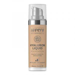 Lavera Lehký tekutý make-up s kyselinou hyaluronovou (30 ml) - medová + Prázdný obal make-upu recyklujte v kontejneru na plast