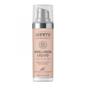 Lavera Lehký tekutý make-up s kyselinou hyaluronovou (30 ml) - slonová kost + Prázdný obal make-upu recyklujte v kontejneru na plast