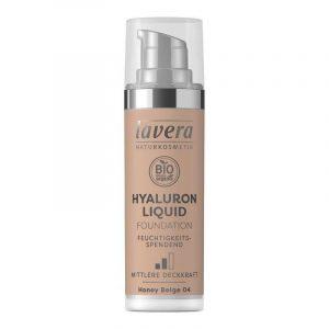 Lavera Lehký tekutý make-up s kyselinou hyaluronovou (30 ml) - béžová + Prázdný obal make-upu recyklujte v kontejneru na plast
